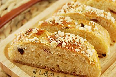 淡奶油葡萄干辫子面包