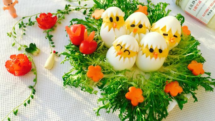 蛋黄萌小鸡沙拉#丘比轻食厨艺大赛#