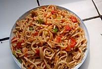 西红柿炒面条的做法