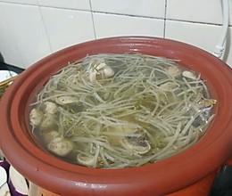 蘑菇豆芽大骨汤的做法
