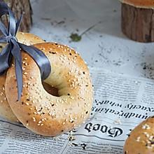 海盐芝士全麦贝果poolish 低脂低糖早餐三明治面包
