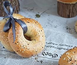 海盐芝士全麦贝果poolish 低脂低糖早餐三明治面包的做法