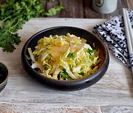 白菜心拌海蜇头的做法