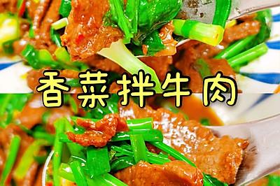 低卡香菜拌牛肉
