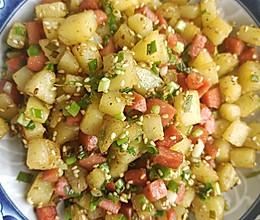 孜然土豆火腿肠的做法