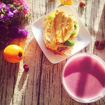 紫薯米糊+能量低脂汉堡