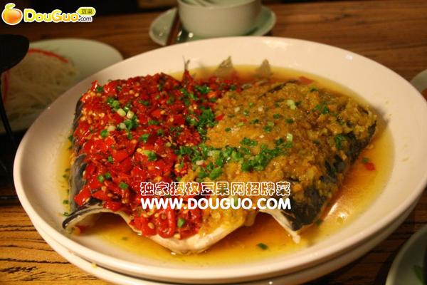 红绿剁椒鱼头的做法