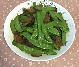 腊肉炒荷兰豆的做法