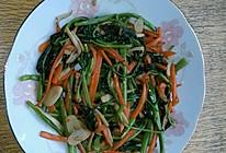 空心菜配胡萝卜杏鲍菇素炒的做法