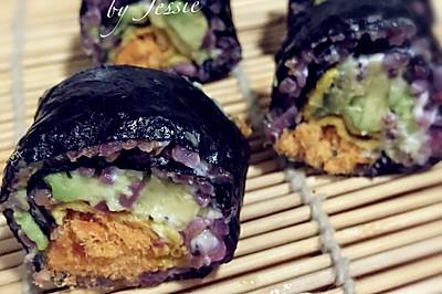 超好吃的牛油果肉松寿司-自制寿司醋