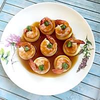 一口鲜豆腐蒸虾#方太一代蒸传#的做法图解7