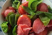 火腿肠炒辣椒的做法
