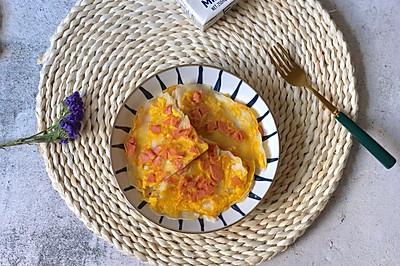简易版火腿鸡蛋饼