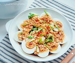 #福气年夜菜#蒜香白鸡蛋的做法