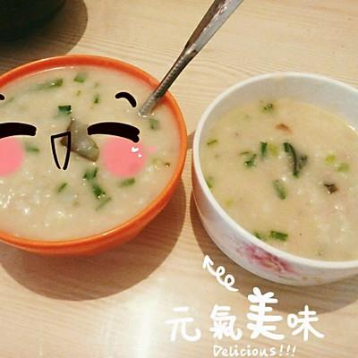 皮蛋瘦肉粥(懒人做法两人份)