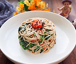 凉拌金针菇菠菜的做法