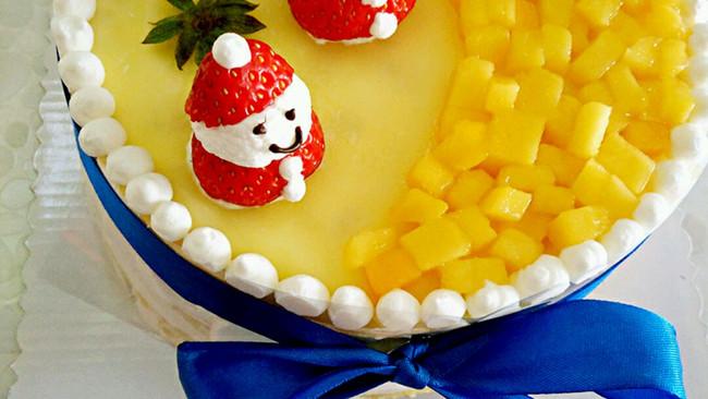 小雪人芒果千层蛋糕的做法