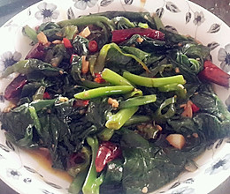 素炒豆腐菜的做法