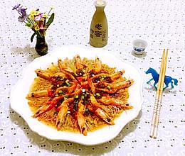 蒜蓉海虾蒸金针菇的做法