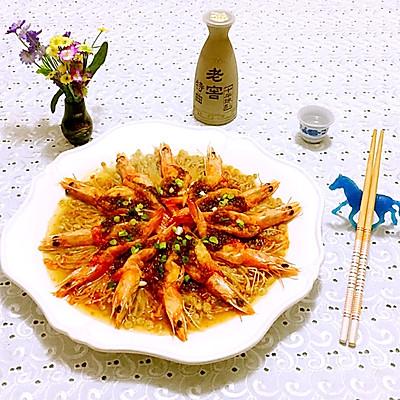 蒜蓉海虾蒸金针菇