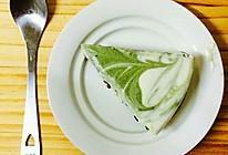 拉花蛋糕(抹茶酸奶慕斯蛋糕)的做法