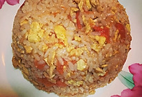 鸡丝木须柿子炒饭的做法