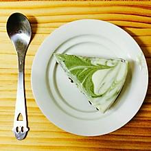 拉花蛋糕(抹茶酸奶慕斯蛋糕)