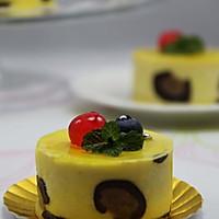 既优雅又不失小野性的唯美蛋糕 --- 芒果豹纹慕斯蛋糕