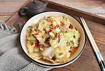 剁椒圆白菜小炒肉的做法