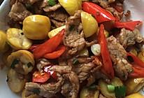 栗子炒肉的做法