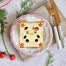 卡通餐—熊猫芝士吐司#令人羡慕的圣诞大餐#