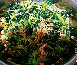 老醋菠菜拌粉丝的做法