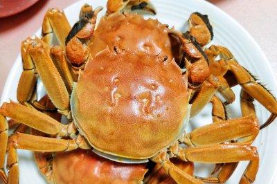 美味的清蒸大闸蟹
