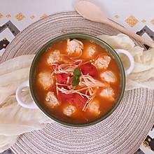番茄鸡胸肉丸子汤