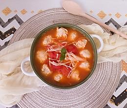 番茄鸡胸肉丸子汤的做法