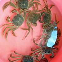 美味蒸河蟹的做法图解1