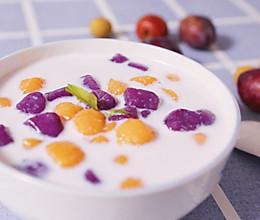 紫薯/红薯牛奶芋圆的做法