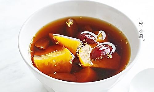 红糖姜茶煮番薯|冬季暖饮的做法