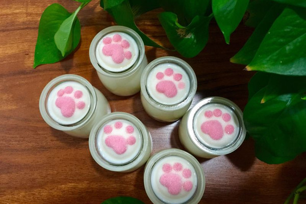 猫爪杏仁豆腐