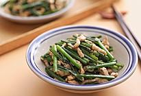 韭花,欲开未开时,是最香——韭菜苔炒肉丝的做法