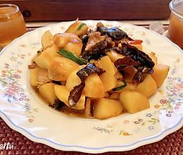 #憋在家里吃什么#慈菇红烧肉片的做法