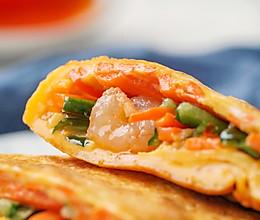 日食记 | 平底锅蔬菜虾饼的做法