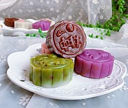 粒粒红豆冰皮月饼的做法