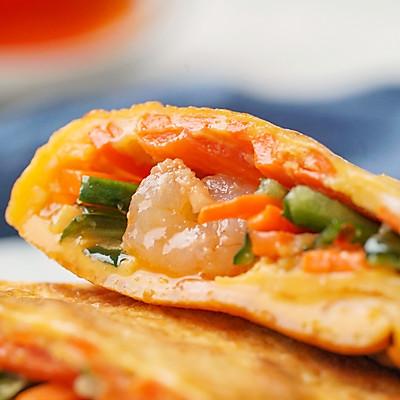 日食记 | 平底锅蔬菜虾饼