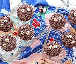 超可爱小煤球巧克力面包的做法