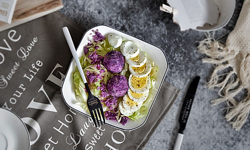 油醋生菜紫薯沙拉的做法