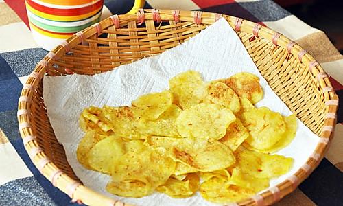 #食尚争霸 格兰仕微波炉试用之烤薯片的做法