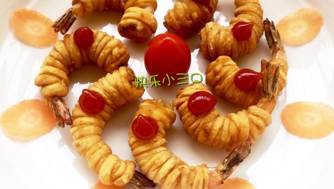 香脆面条虾
