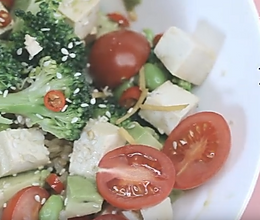 素食豆腐糙米沙拉的做法
