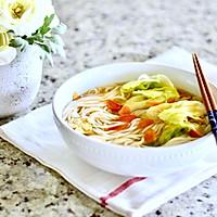 一碗简易鸡蛋蔬菜素粉#520,美食撩动TA的心!#的做法图解7